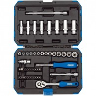 "Draper 1/4"" Sq. Dr. Metric Socket Set (47 Piece)"