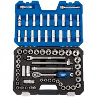 "Draper Expert 1/2"" SQ. DR. MM/AF Combined Socket Set (63 Piece)"