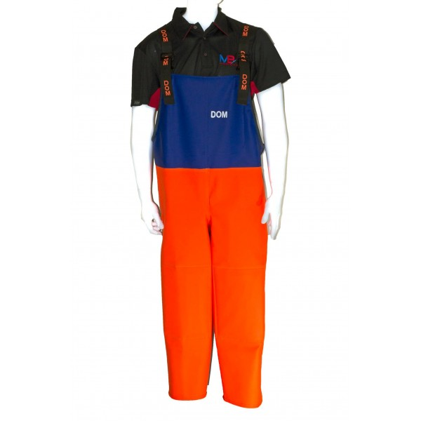 Dom Mira Orange and Blue Bib & Brace