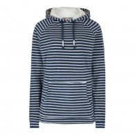 Weird Fish Juna Striped Towelling Hoody