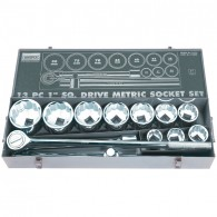 "Draper 1"" Metric Socket Set - 13pc"