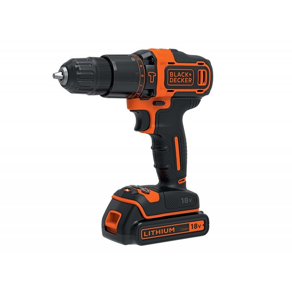 Black & Decker 18v Li-Ion Combi Drill with 2 Batteries