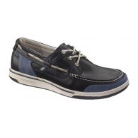 Sebago Triton Three Eye Navy & Light Blue Shoes