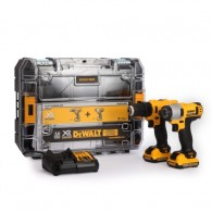 Dewalt 10.8V Cordless Li-ion Compact Drill Driver and Impact Driver Twin Pack