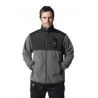 Lee Cooper Polar Fleece Jacket Grey/Black