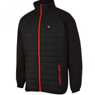 Lee Cooper Ribbed Fleece Black Jacket