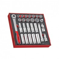 "Teng 1/2"" Drive 27 Piece EVA Socket Set"