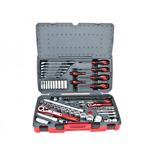 Teng 95 Piece 1/4in and 1/2in Socket and Tool Set