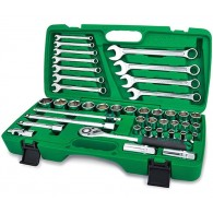 "Toptul 42Pc 1/2"" DR. Flank Socket Wrench Set"