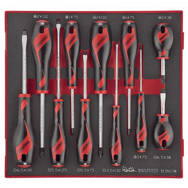 Teng 11 Piece Mixed Screwdriver Set