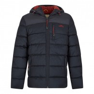 Weird Fish Laurent 2-Tone Puffa Jacket Navy