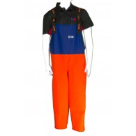 Dom Mira Orange and Blue Bib and Brace