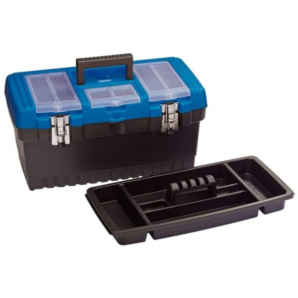 Draper Tool Organiser Box with Tote Tray