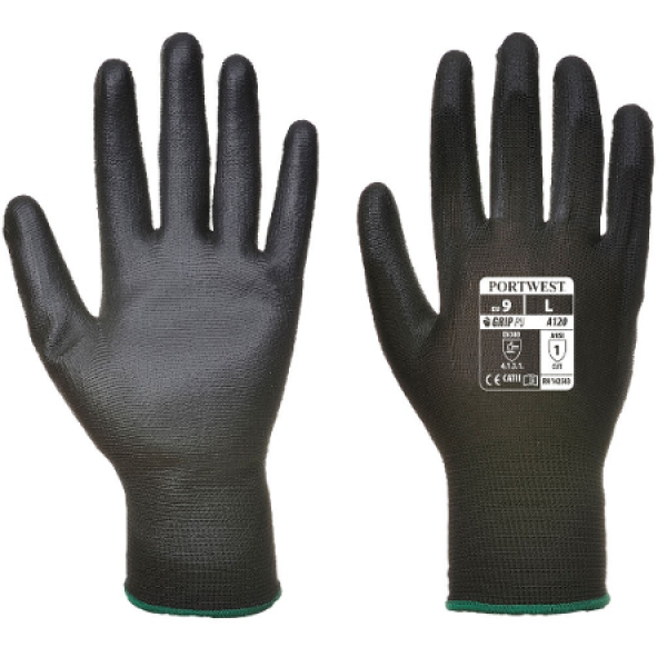 Portwest PU Palm Glove Black