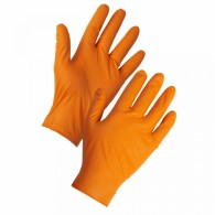 Orange Nitrile Diamond Grip Gloves