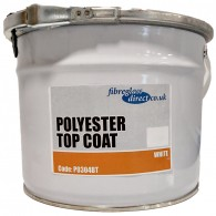 Polyester Top Coat | White