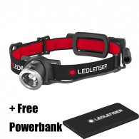 Ledlenser H8R Rechargeable LED Head Torch + FREE Powerbank