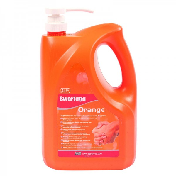 Swarfega Orange Hand Cleaner Pump - 4 Litre