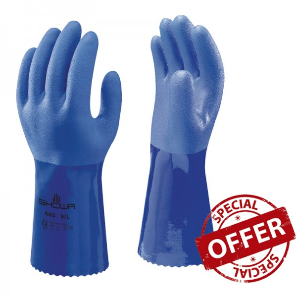 Showa 660 Oil Resistant Gloves - 60 Pieces