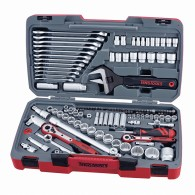 "Teng 127pc 1/4 1/2 & 3/8"" Drive Socket & Vehicle Wrench + Spanner Tool Set"