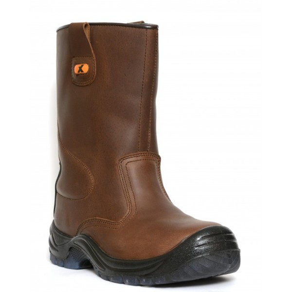 Xpert  Brown Safety Rigger Boot